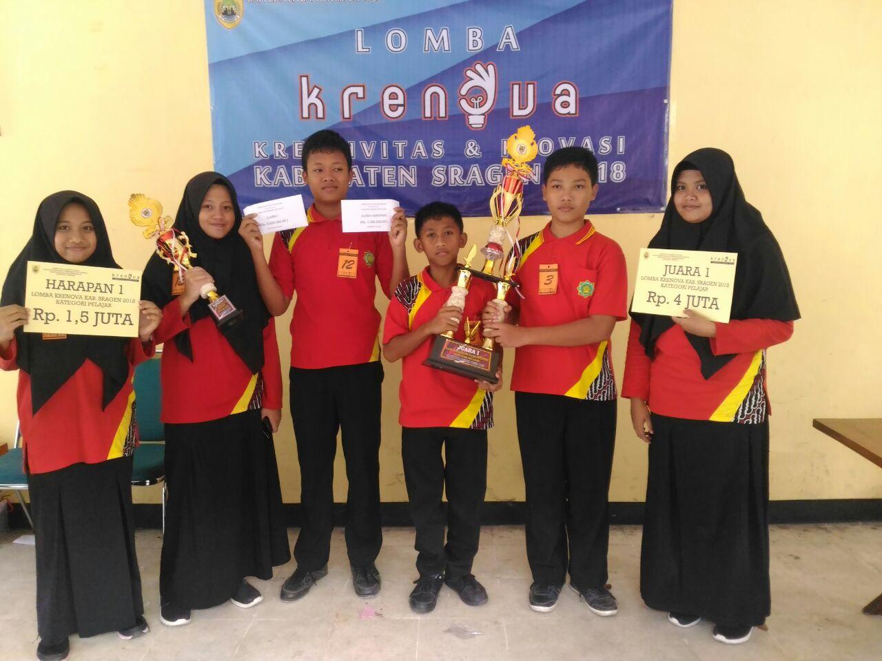 Juara 1 dan 4 pada lomba Kreatifitas dan Inovasi Kabupaten Sragen
