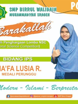 Juara Nasional Science Competition (NSC) MAPEL IPS
